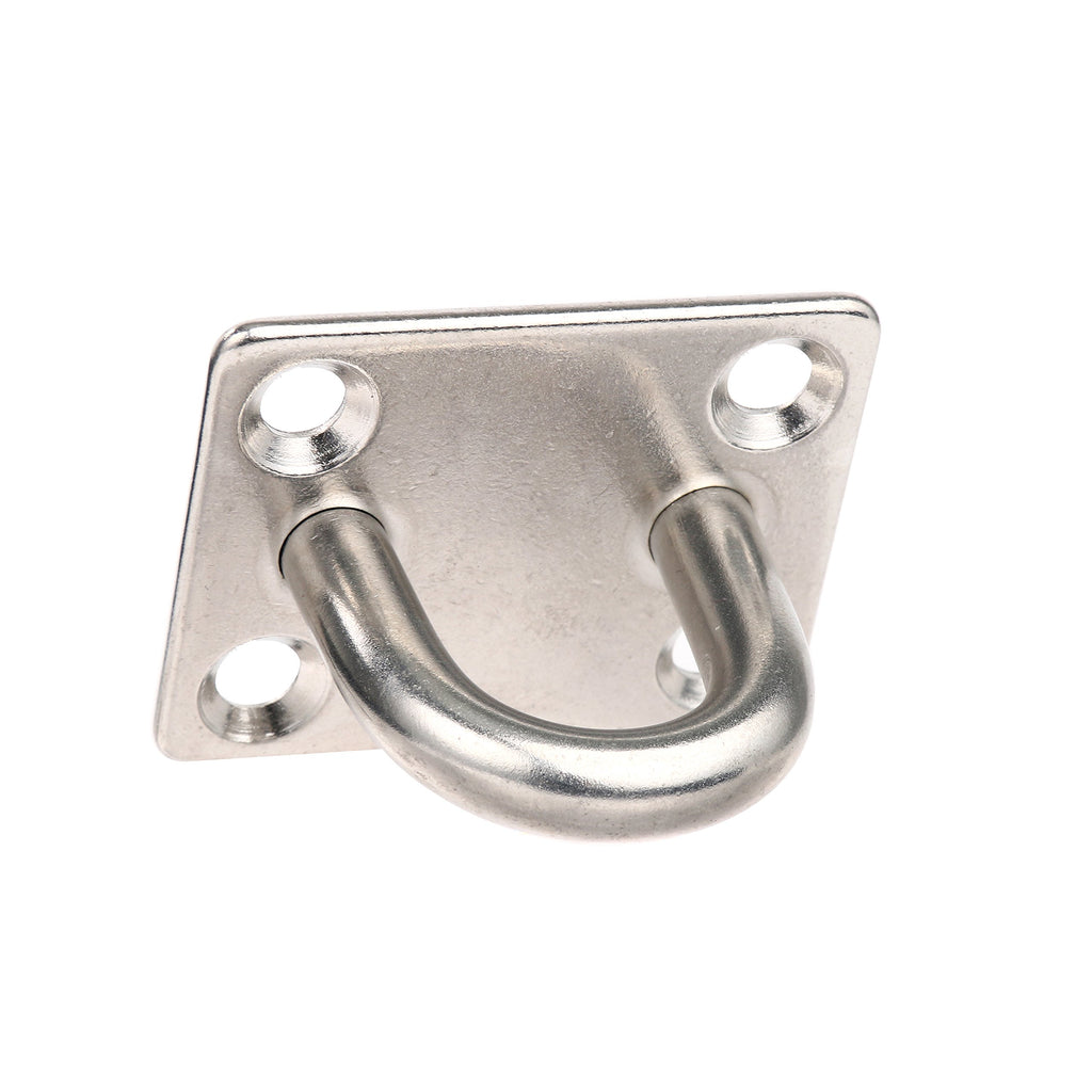 Amarine Made 4pcs 8mm Square Eye Plates Marine Grade 316 Stainless Steel Anchor Pad Eye Hook