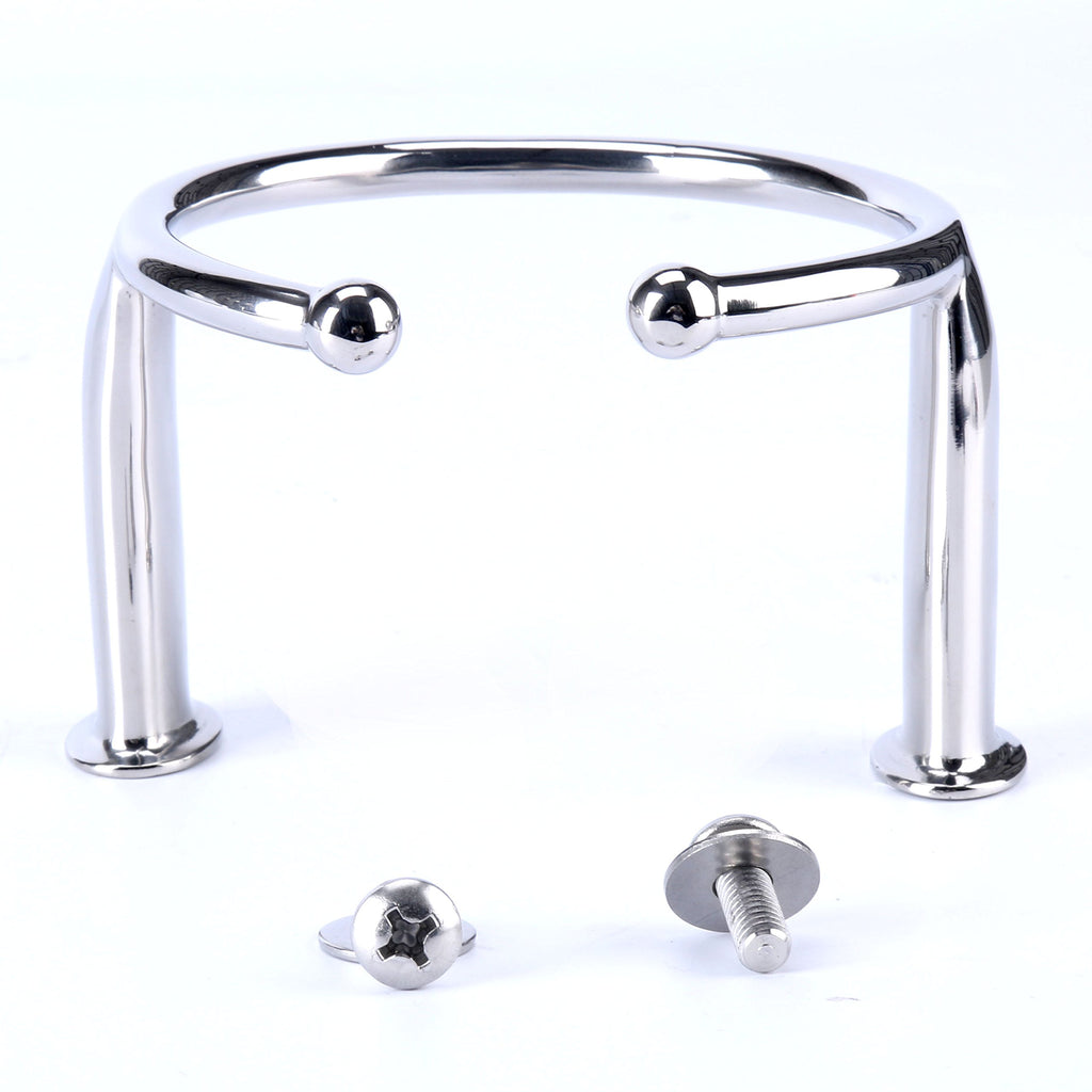 Amarine Made 316 Stainless Steel Single Ring Cup Drink Holder - Open Design