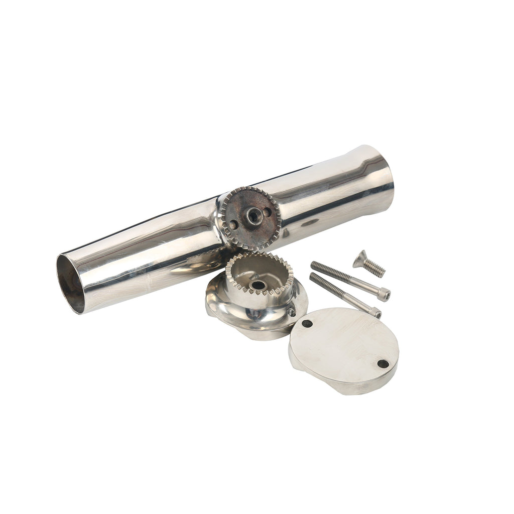 "Amarine Made Stainless Tournament Style Clamp on Fishing Rod Holder for Rails 1-1/4"" to 2"""