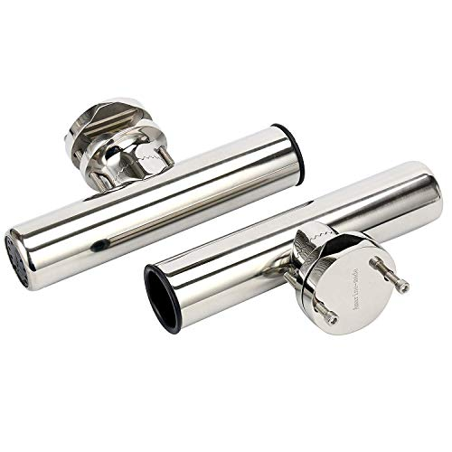 "Amarine Made Stainless Rail Mount Clamp on Fishing Rod Holder for Rails 1-1/4"" to 2"""