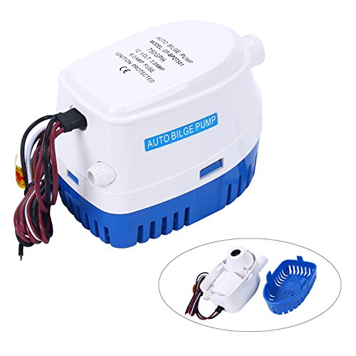 Amarine Made Automatic Submersible Boat Bilge Water Pump 12V 750gph Auto with Float Switch-CA-0348