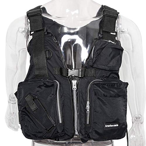 Amarine Made Boat Buoyancy Aid Sailing Kayak Fishing Life Jacket Vest - D13, Color in: Black, Yellow, Red