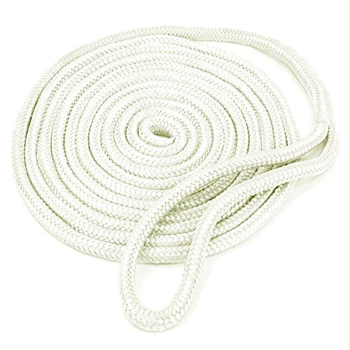 Amarine Made 5/8 Inch 20 FT Double Braid Nylon Dockline Dock Line Mooring Rope