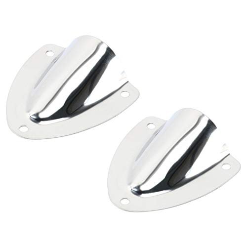 Amarine Made 2 PCS Stainless Steel Clamshell Vent/Wire Cover Clam Shell Vent for Boat