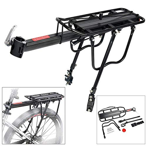 Amarine Made 110 Lbs Capacity Aluminum Alloy Bicycle Rear Rack