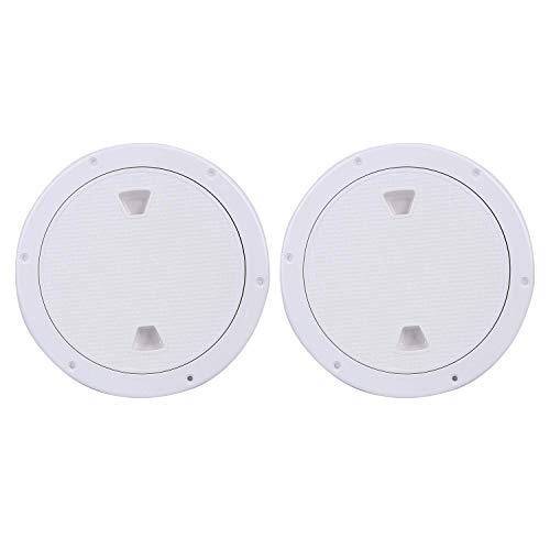 Amarine Made 2 Pack of Boat Round Non Slip Inspection Hatch with Detachable Cover