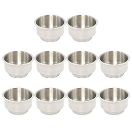 Amarine Made 10 Pack of Stainless Steel Drop-in Cup Holders