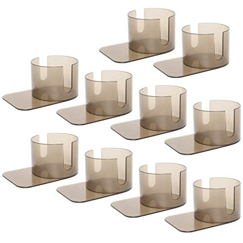 Amarine Made 10 Pack of Table Slide Under Plastic Cup Holder with Cut Outs