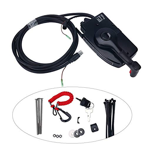 Amarine-made 881170A3 Boat Motor Side Mount Remote Control Box with 8 Pin for Mercury Outboard Engine 8Pin