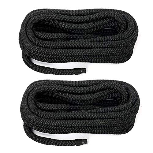 Amarine Made 1/2 Inch 20 FT Double Braid Nylon Dockline,Mooring Rope Double Braided Dock Line