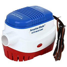 Amarine-made 12v 1100gph Automatic Submersible Boat Bilge Water Pump