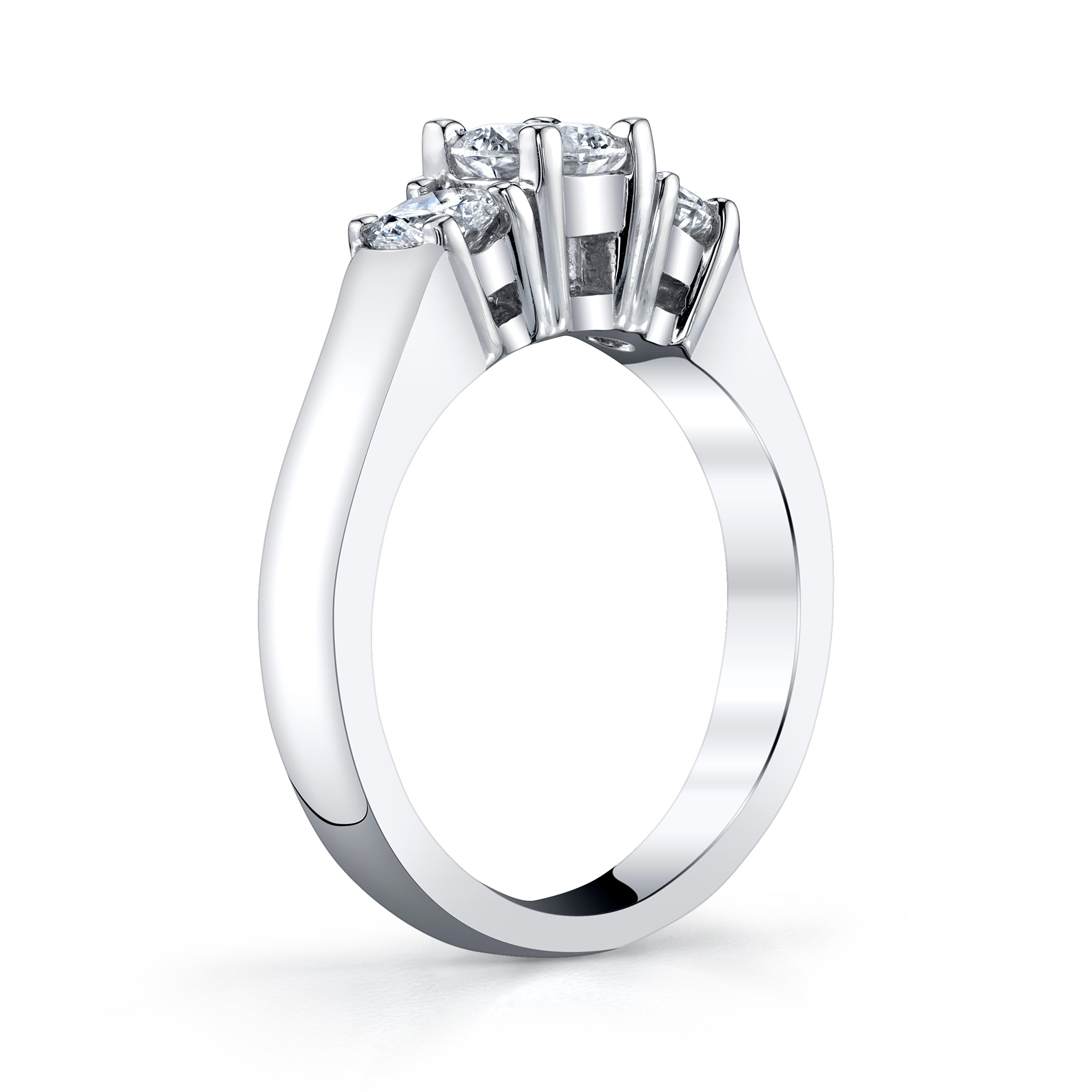 Platinum and Diamond 3 Stone Ring