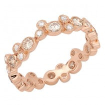 18kt Rose Gold and Diamond Eternity Band
