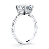 Platinum and 3-Carat Oval Brilliant Cut Diamond Ring