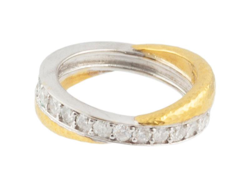 24kt Yellow and 18kt White Gold Diamond Band
