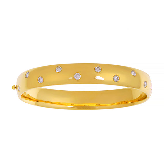 Yellow Gold and Diamond Etoile Bangle