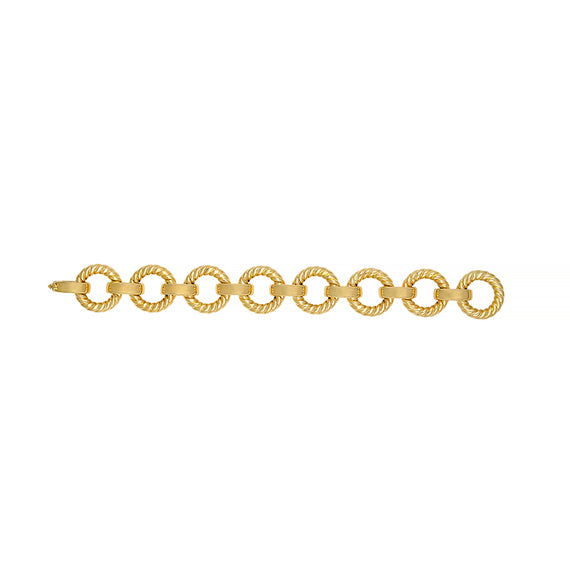Yellow Gold Twisted Link Bracelet