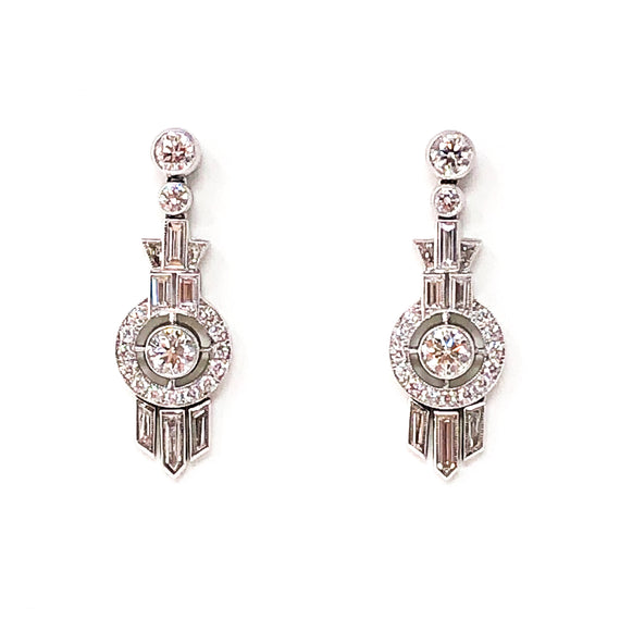 Kwiat 18kt White Gold and Diamond Drop Earrings