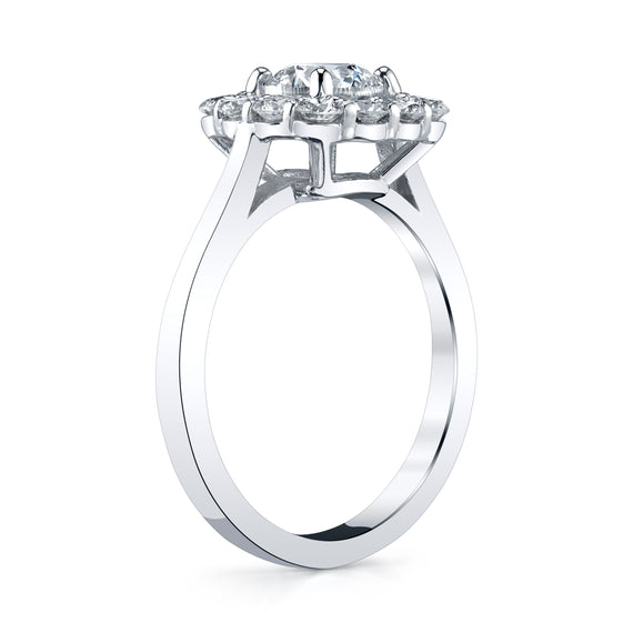 Round Brilliant Cut Diamond Cluster Ring
