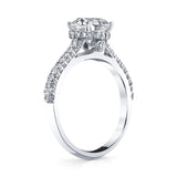 18k White Gold and Diamond Engagement Ring