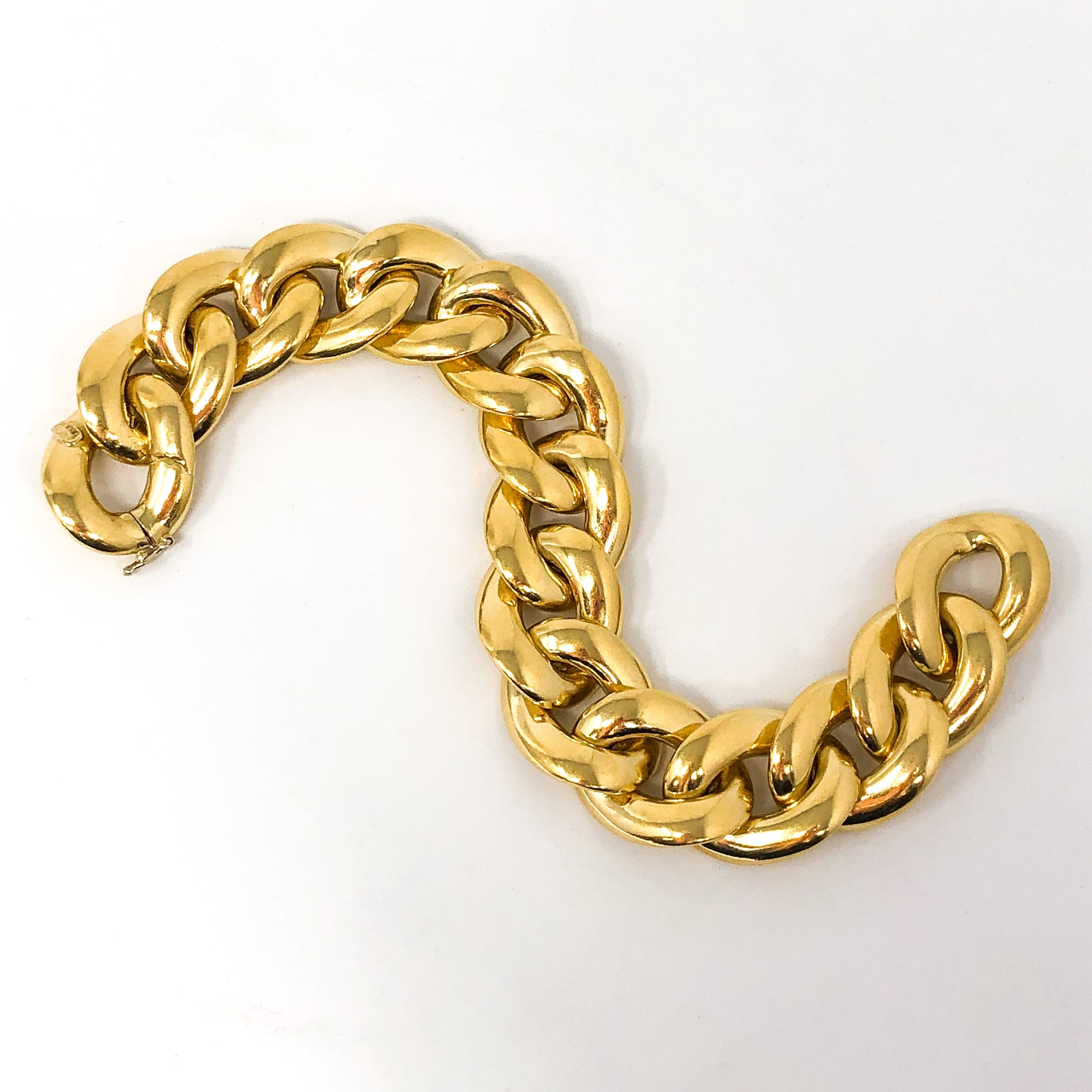 18kt Gold Reversible Chain Bracelet