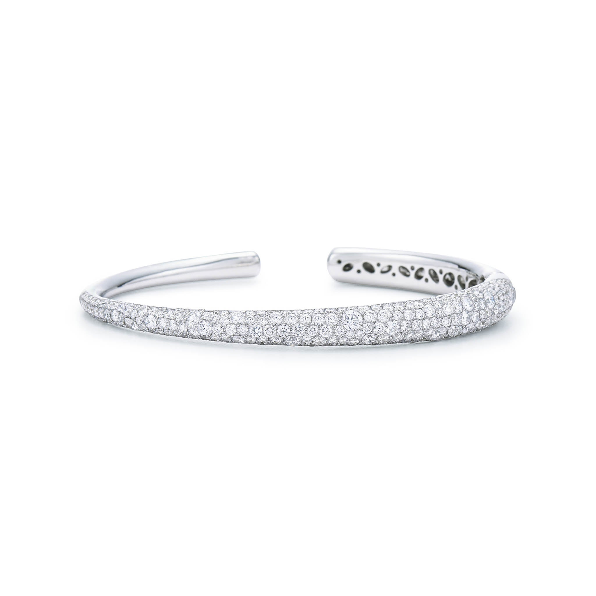 18k White Gold Diamond Pave Cuff