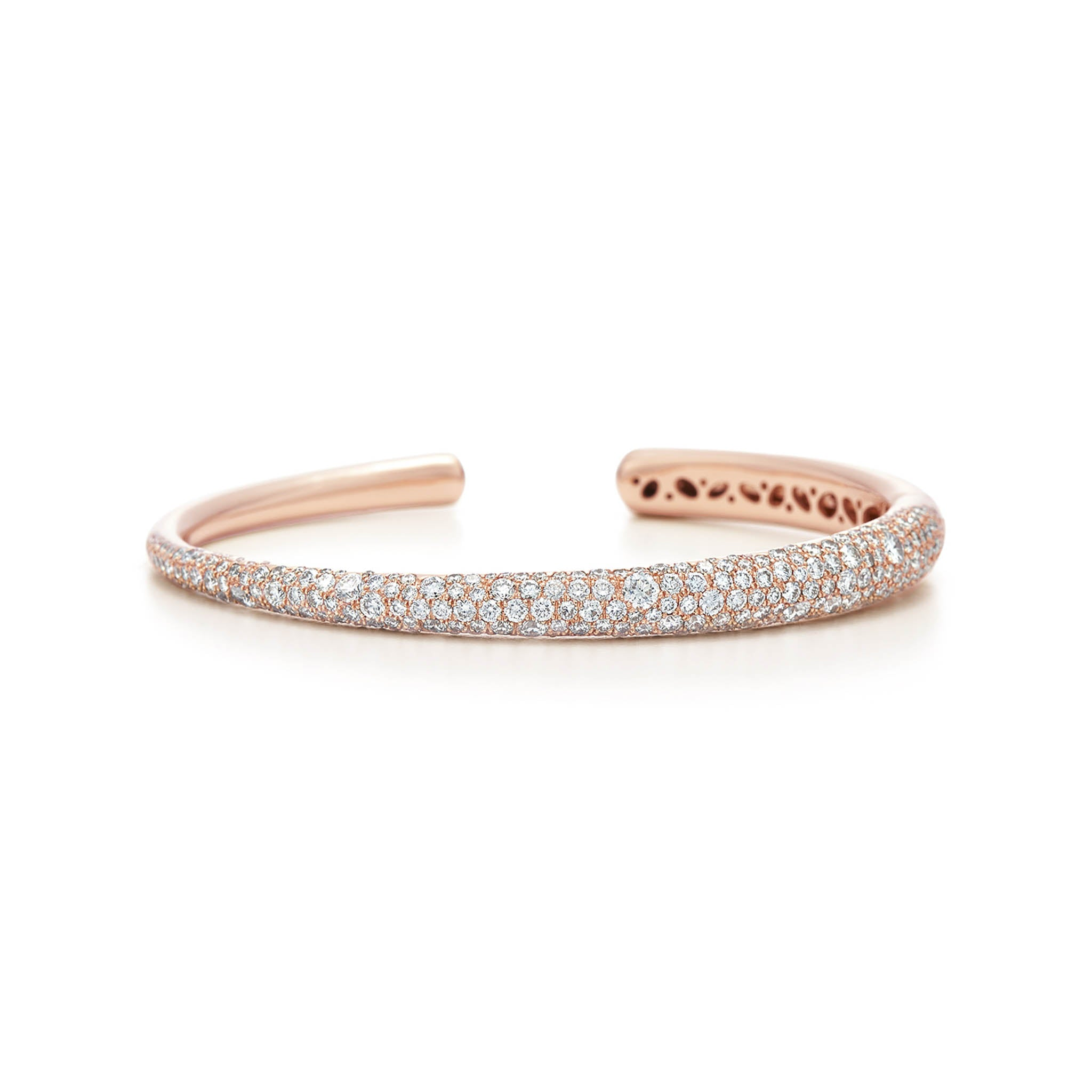 18k Rose Gold Diamond Pave Cuff