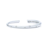 18k White Gold Scattered Diamond Cuff