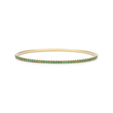 18k Yellow Gold and Tsavorite Bangle