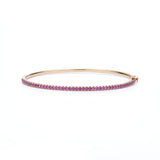 18k Rose Gold and Pink Sapphire Bangle