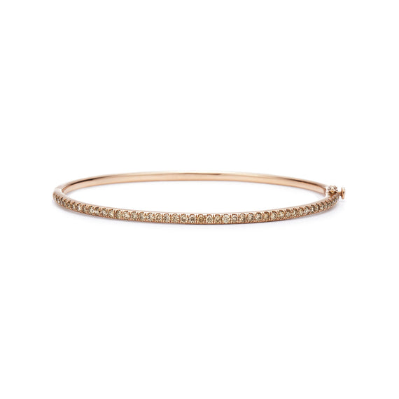 18k Rose Gold and Fancy Champagne Diamonds Bangle