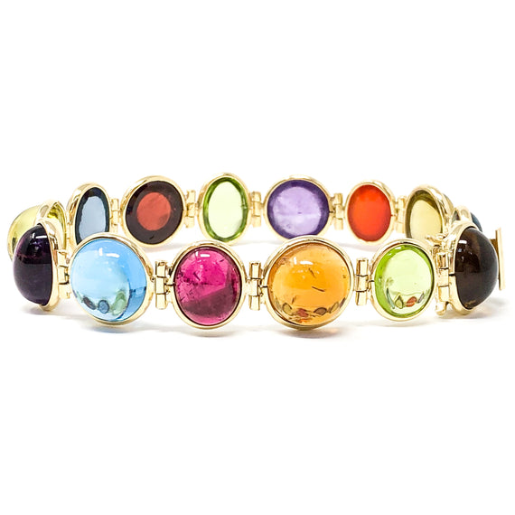 18kt Gold Multi-Gemstone Bracelet
