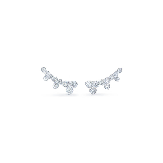 18k White Gold Kwiat Diamond Ear Climbers