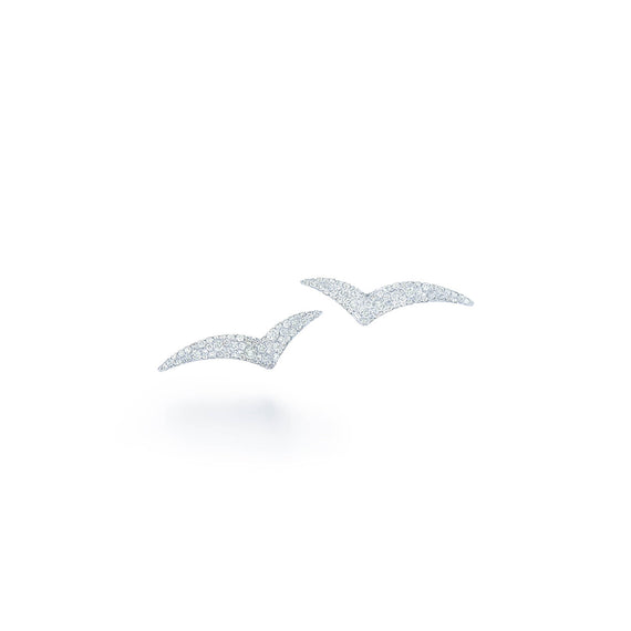 18k White Gold Kwiat Tempo Earrings