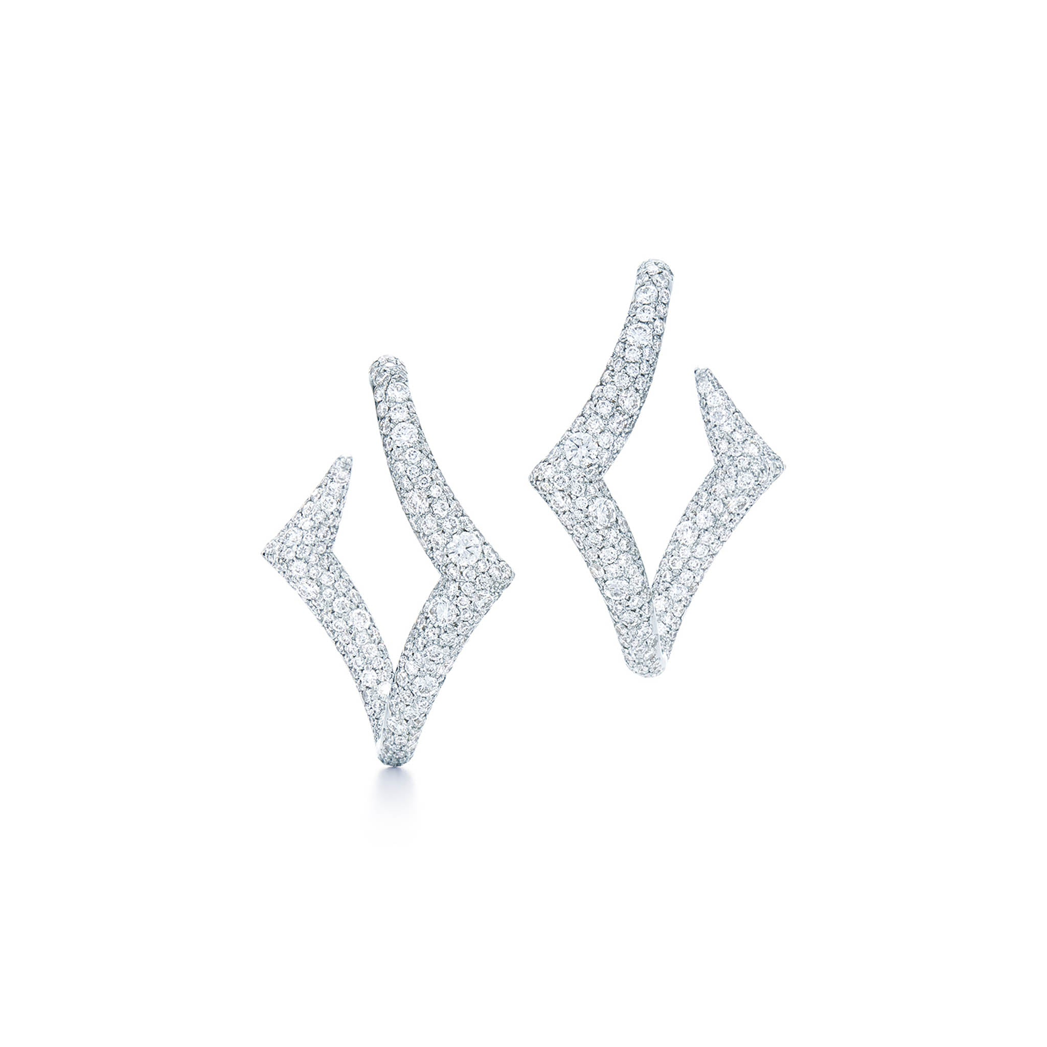 18k White Gold Kwiat Diamond Tempo Earrings