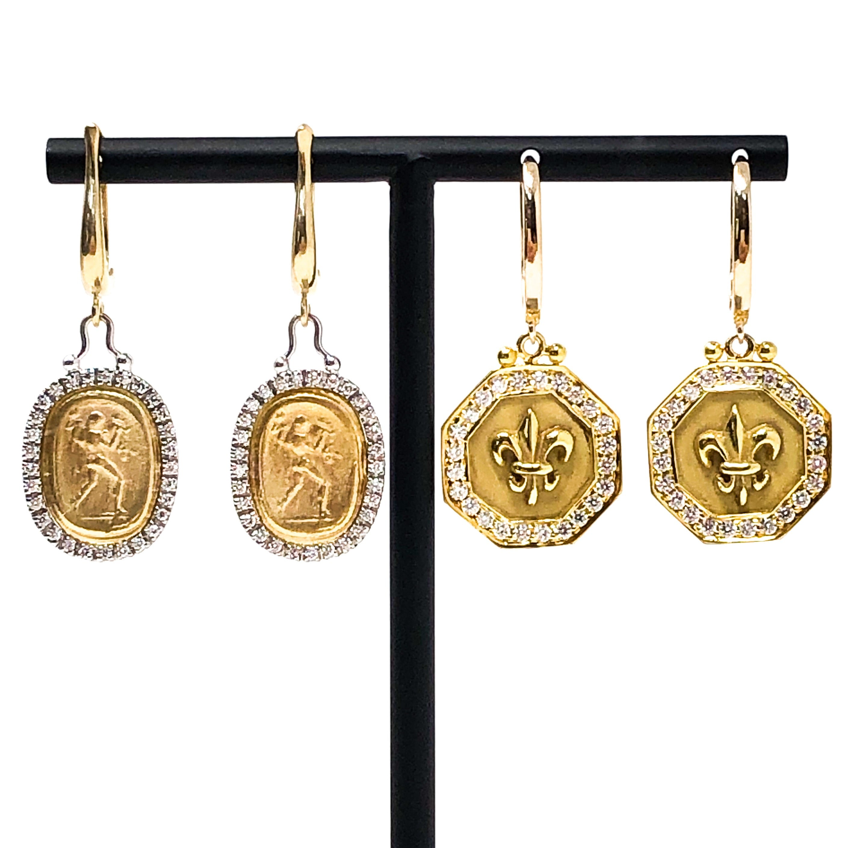Roman Motif Earrings