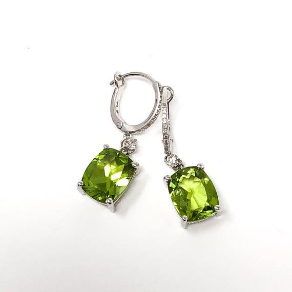 Peridot and Diamond Earrirngs