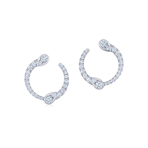 Kwiat Eclipse Yin and Yang Mini Diamond Stud Earrings