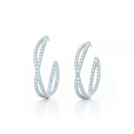 Kwiat Fidelity Diamond Hoop Earrings