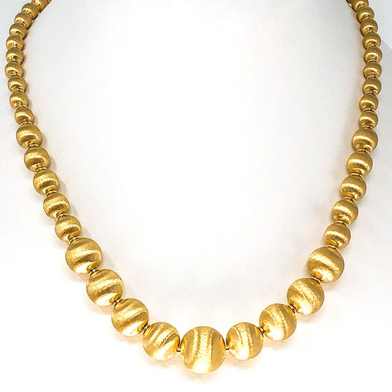 18kt Gold Ball Necklace
