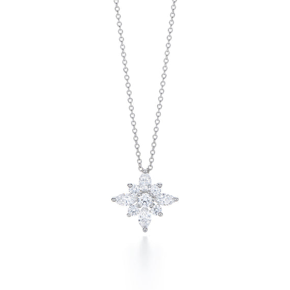 18k White Gold and Diamond Star Pendant