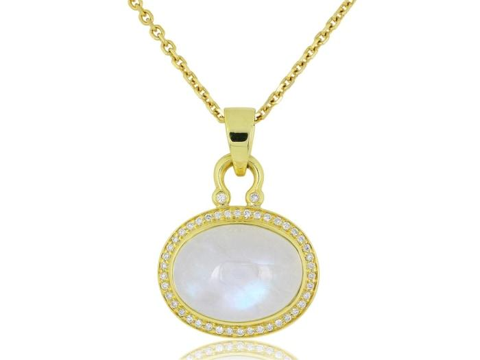 Moonstone and Diamond Pendant