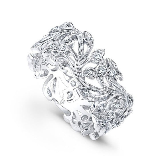 Platinum and Diamond Vine Band