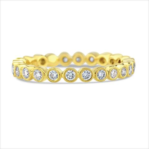 18kt Yellow Gold Bezel-set Diamond Eternity Band