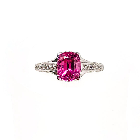 18kt White Gold Pink Spinel Ring