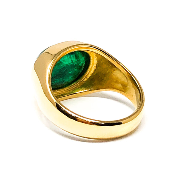 22kt Gold and Emerald Cabochon Ring