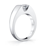 Platinum and Princess Cut Diamond Ring