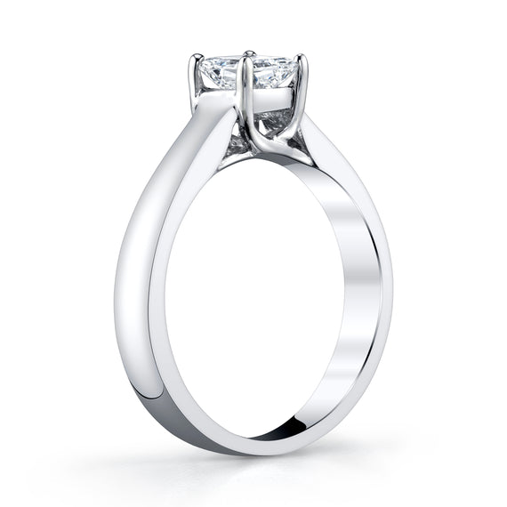 White Gold Radiant Cut Diamond Ring