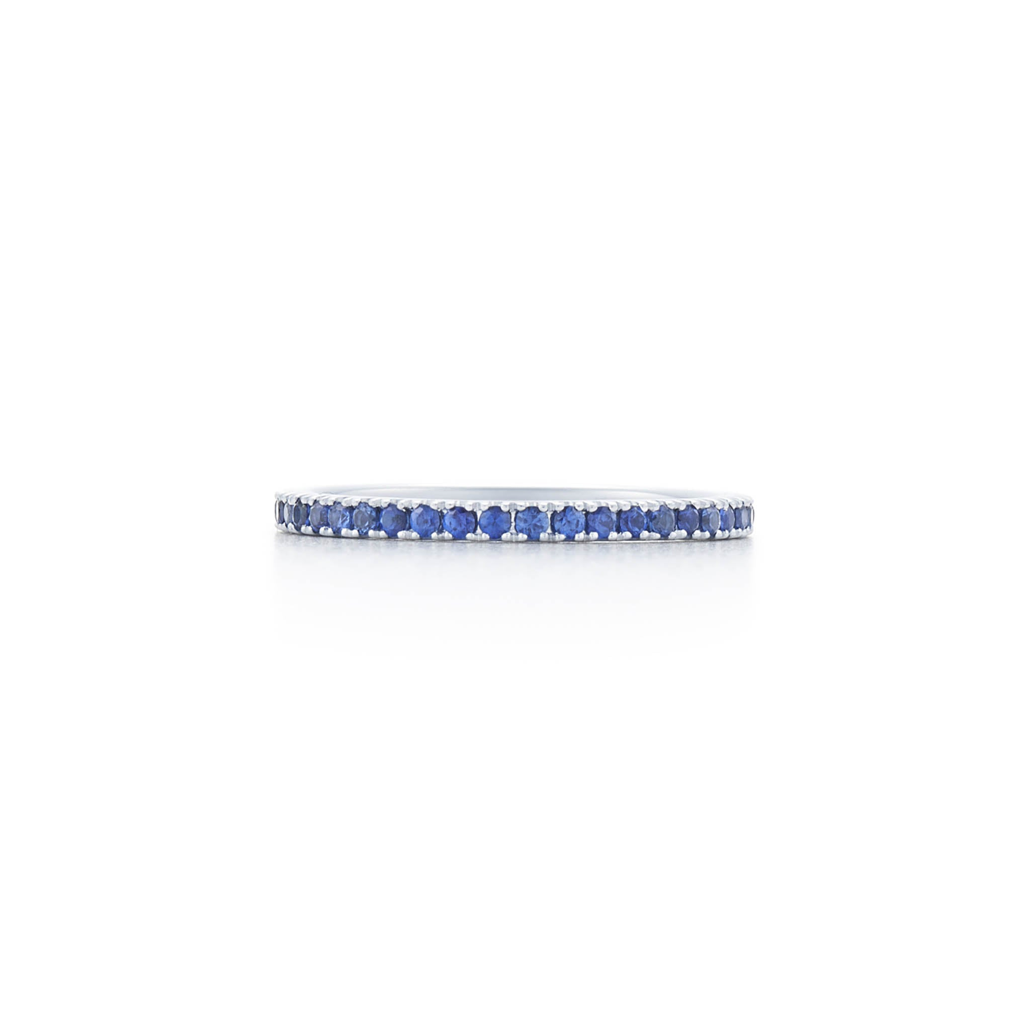 18k White Gold and Blue Sapphire Eternity Band