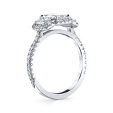 Ashoka Cut Diamond Three Stone Ring
